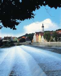 Wasserfall in Landsberg am Lech